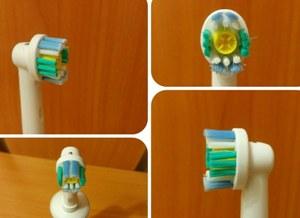 головка зубной щетки