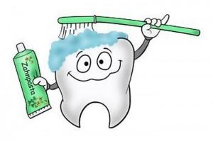 чистка зуба