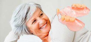 Бабушка с зубами