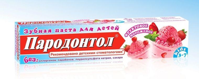 Зубная паста фруктовое мороженое