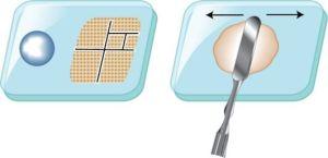 замешивание стоматологической пасты