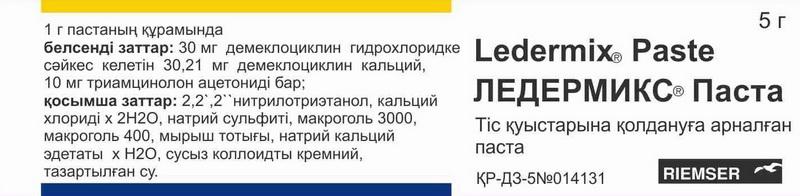 Состав пасты Ледермикс