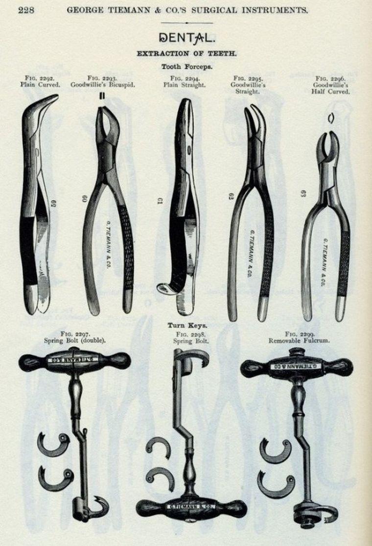 древние стоматологические инструменты