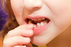 Зуб с кровью