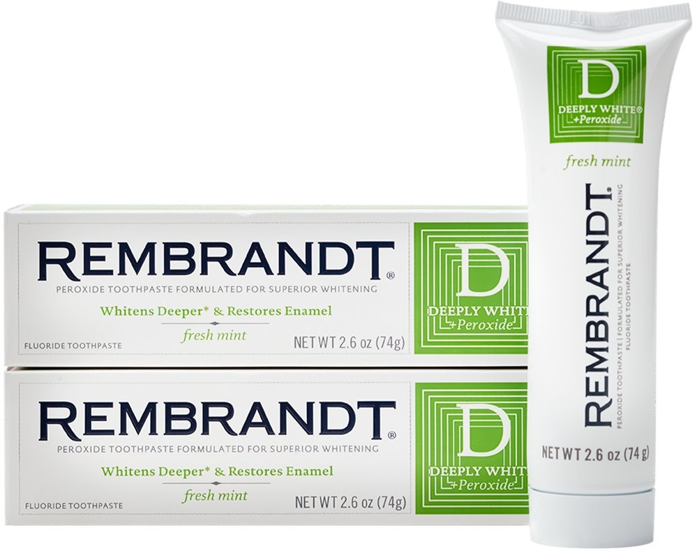 Rembrandt Deeply White Whitening Fluoride Toothpaste Mint