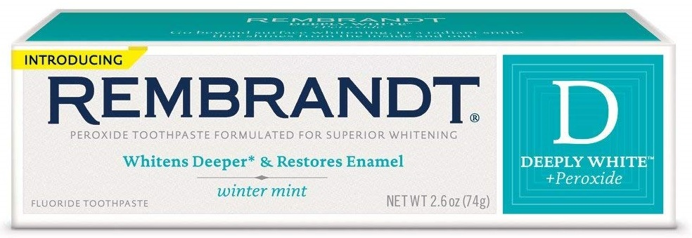 Rembrandt Deeply White Whitening Fluoride Toothpaste Winter Mint