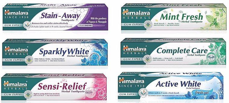 зубные пасты himalaya herbals
