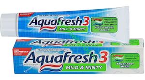 зубная паста Аквафреш