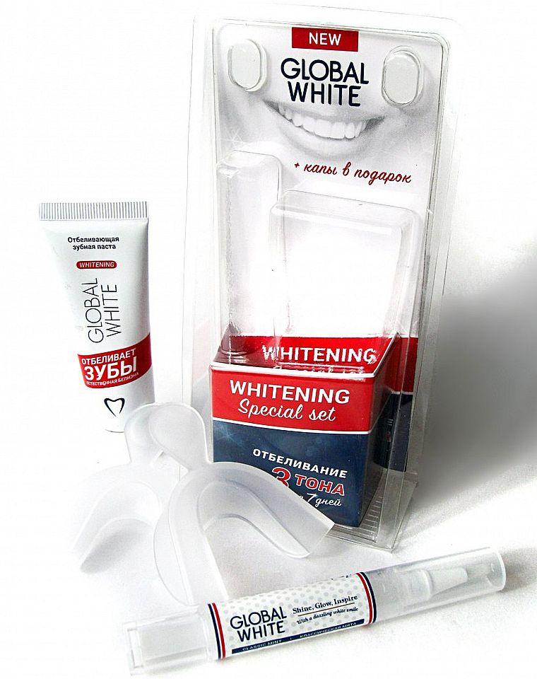 отбеливающий набор Global White с капами