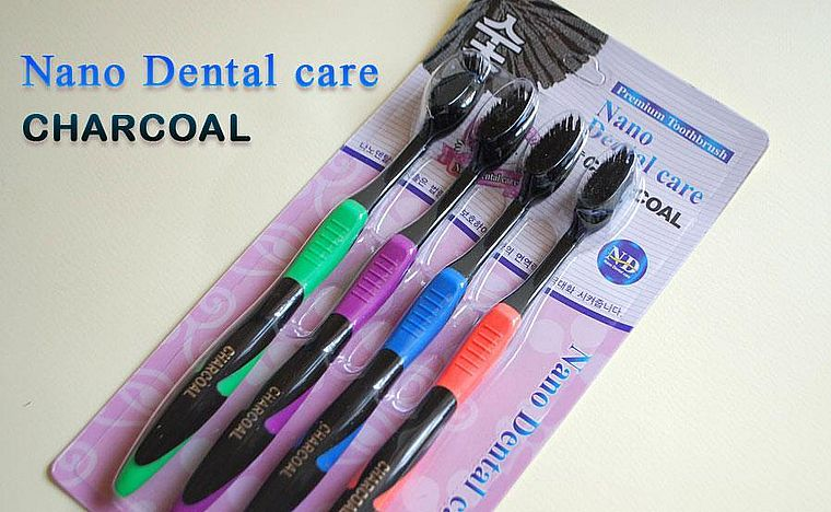 щетка из Кореи Nano Dental Care Charcoal Premium Toothbrush